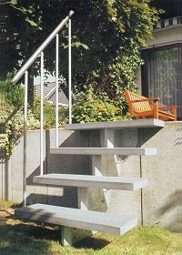 Beliebt Außentreppe Bausatz Aussen Treppen.Holzkomplett.de GN62