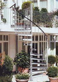 Beliebt Außentreppe Bausatz Aussen Treppen.Holzkomplett.de SL01
